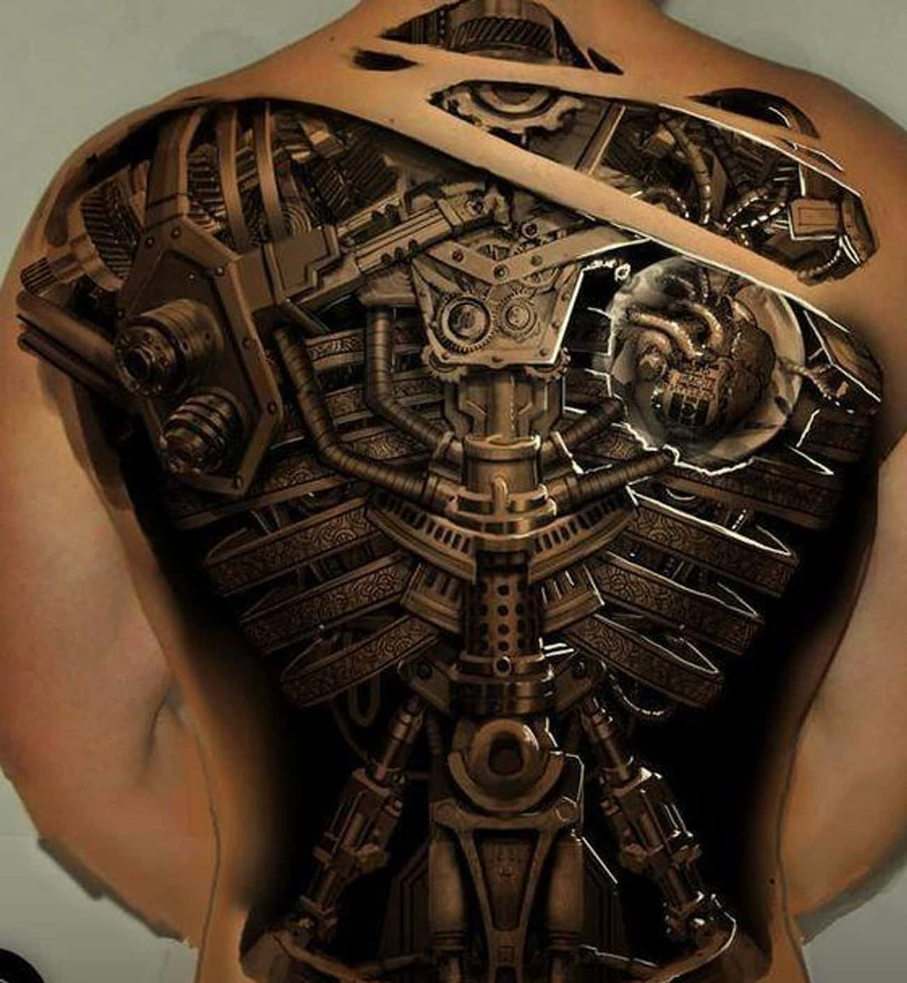 Man or Machine? You Decide is listed (or ranked) 2 on the list 29 Hyperrealistic Tattoos That Look Like Photos Printed on Skin