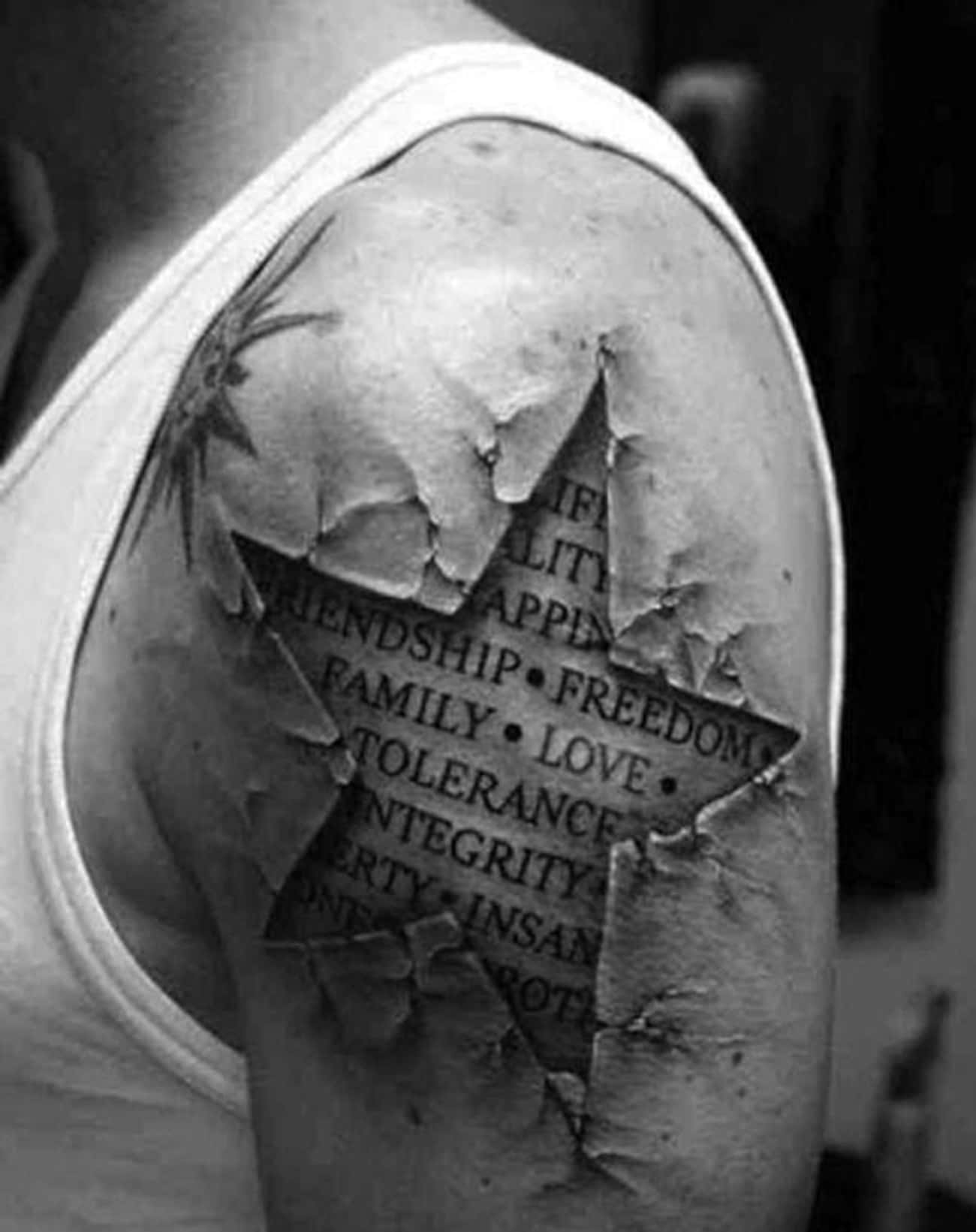 This Guy Wears What's in H is listed (or ranked) 3 on the list 29 Hyperrealistic Tattoos That Look Like Photos Printed on Skin