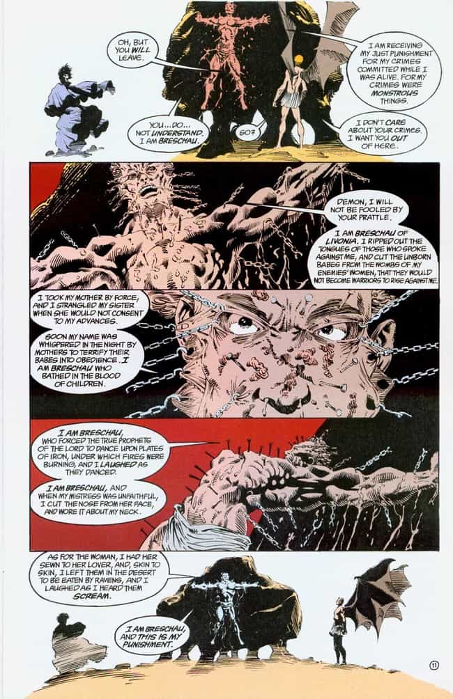 Does a Wicked Man Deserve Wick... is listed (or ranked) 3 on the list The 13 Goriest & Most Brutal Moments in Vertigo Comics History