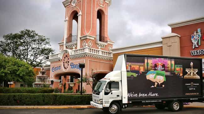 Casa Bonita, Colorado is listed (or ranked) 2 on the list All the Places South Park Trolled with Mobile Billboards