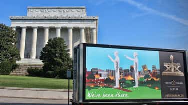 The Lincoln Memorial, Washingt is listed (or ranked) 2 on the list All the Places South Park Trolled with Mobile Billboards