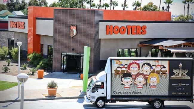 Hooters, Los Angeles is listed (or ranked) 3 on the list All the Places South Park Trolled with Mobile Billboards