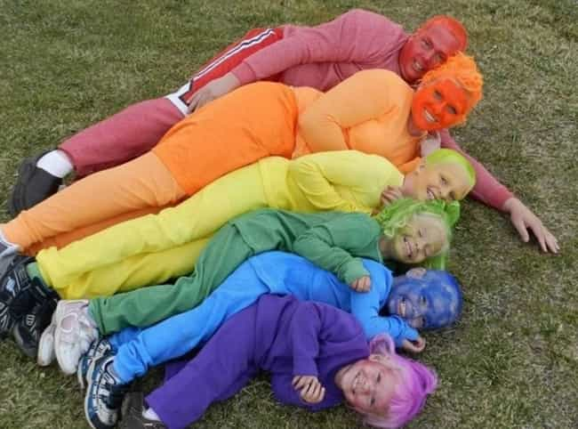 Catch the Rainbow... of Awkwar... is listed (or ranked) 3 on the list Incredibly Awkward Family Photos: Halloween Edition