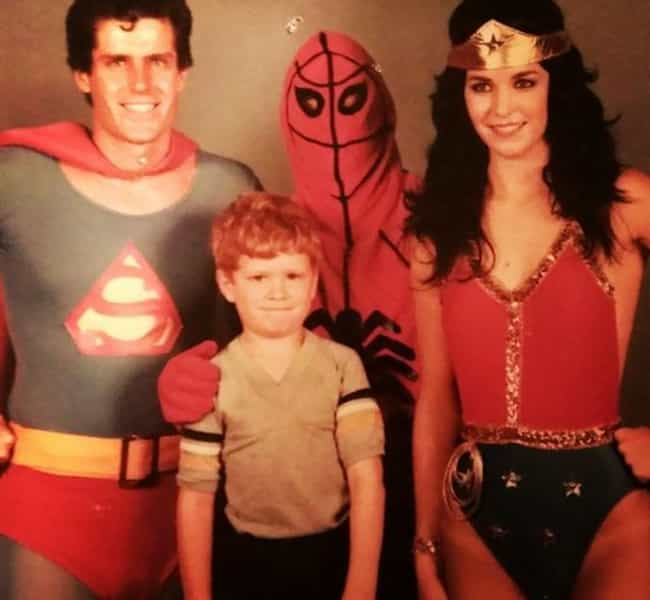 Spi-derp Man And The Sup... is listed (or ranked) 4 on the list Incredibly Awkward Family Photos: Halloween Edition
