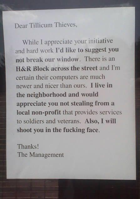 Random Funny Shoplifter Warning Signs That Would Definitely Get Your Attention