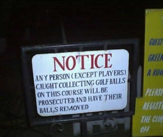 A Ball for a Ball is listed (or ranked) 1 on the list 26 Funny Shoplifter Warning Signs That Would Definitely Get Your Attention