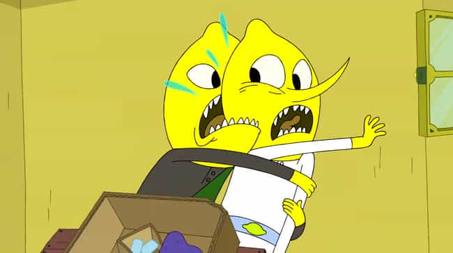 The Earl of Lemongrab Ea... is listed (or ranked) 1 on the list 14 Super Dark Moments in Adventure Time That Were Surprisingly Adult