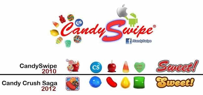 CandySwipe v. Candy Crus... is listed (or ranked) 3 on the list The 7 Most Ridiculous Lawsuits in Video Game History