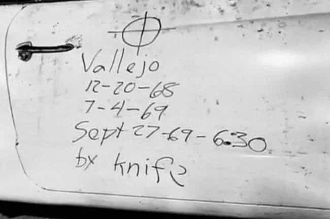 The Zodiac Visits Vallejo is listed (or ranked) 2 on the list 12 Cryptic and Chilling Messages Left at Murder Scenes