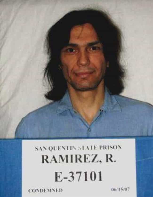 Richard Ramirez is listed (or ranked) 8 on the list 12 Cryptic and Chilling Messages Left at Murder Scenes