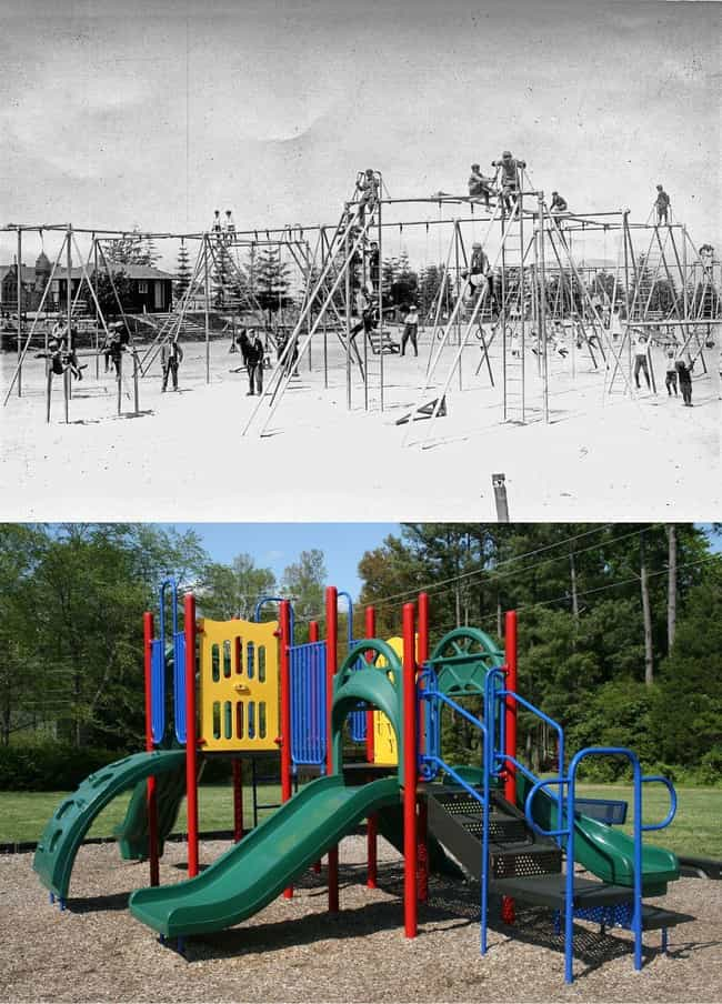 Playgrounds is listed (or ranked) 2 on the list 36 Everyday Things From The Early 1900s vs How They Look Today