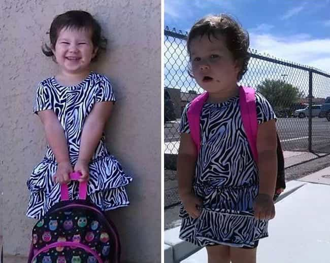 Sometimes Day Two Hits You Har... is listed (or ranked) 4 on the list 18 Hilarious Pictures of Kids Before and After Their First Day of School