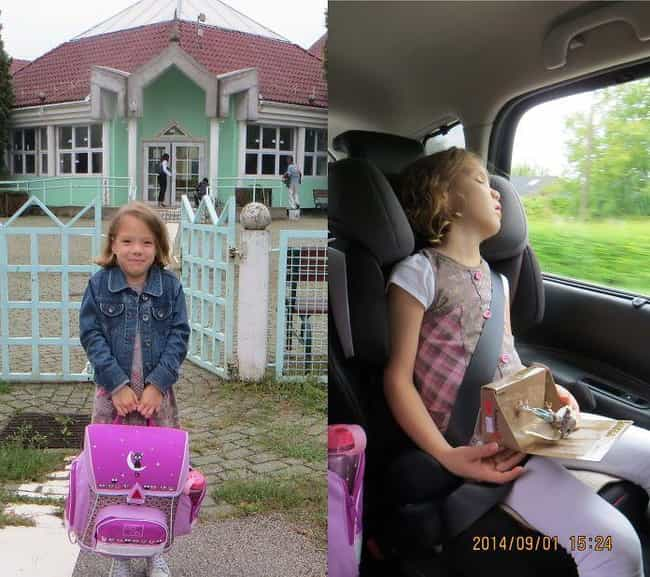 School Daze is listed (or ranked) 2 on the list 18 Hilarious Pictures of Kids Before and After Their First Day of School