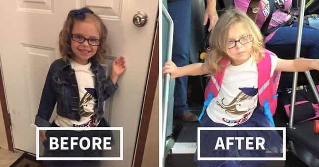 Day of Reckoning is listed (or ranked) 3 on the list 18 Hilarious Pictures of Kids Before and After Their First Day of School