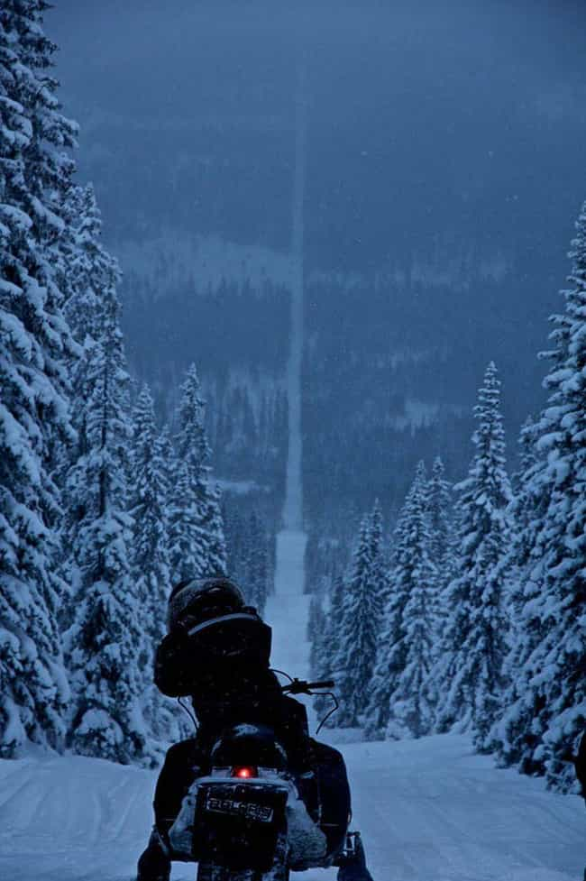 This Snowy Path Divides Norway... is listed (or ranked) 2 on the list 21 Beautiful and Surprising International Borders Around the World