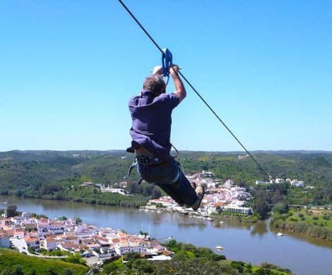 This Zipline Connects Spain an... is listed (or ranked) 1 on the list 21 Beautiful and Surprising International Borders Around the World