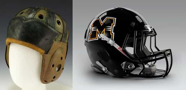 Football Helmets is listed (or ranked) 3 on the list 36 Everyday Things From The Early 1900s vs How They Look Today