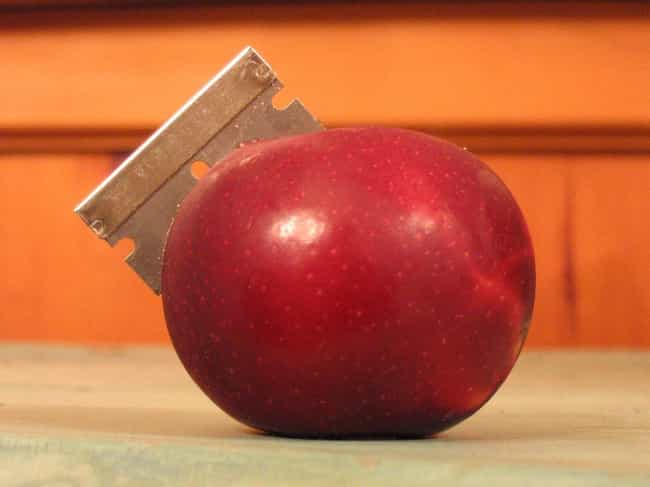 Razor Apples of New Jersey is listed (or ranked) 2 on the list Real Cases of Razor Blades, Poison, and Other Things Put in Halloween Candy