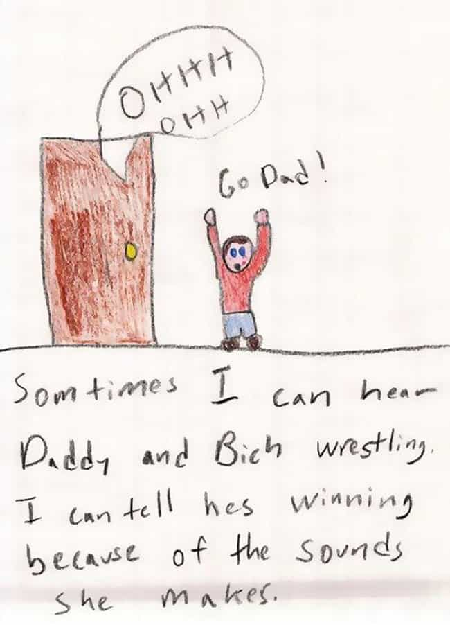 Extremely Loud and Incredibly ... is listed (or ranked) 1 on the list 22 Kids Drawings That Reveal a Lot About the Adults in Their Lives
