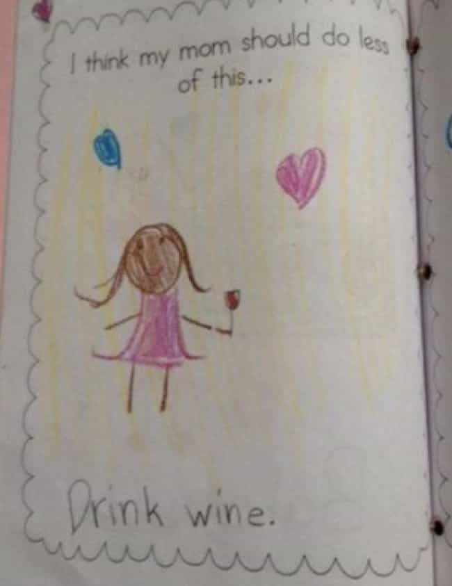 wine not is listed or ranked 4 on the list 22 kids drawings that