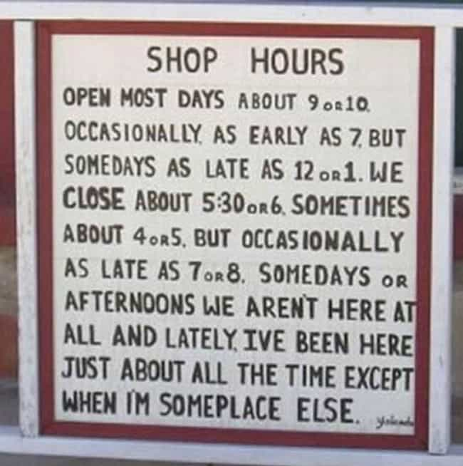 "You Might Have Commitmen... is listed (or ranked) 2 on the list 28 Funny ""We're Closed"" Signs That You Wouldn't Even Be Mad At"