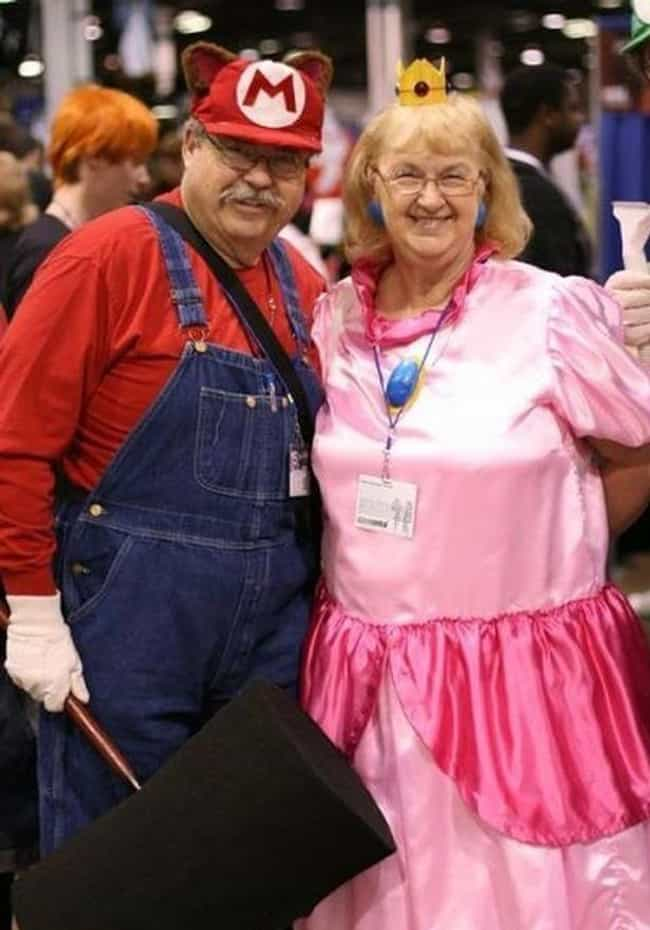 Mario 64+ is listed (or ranked) 4 on the list Hilariously Adorable Old People Halloween Costumes