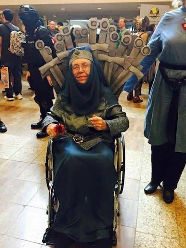 Lady Olenna of House YES... is listed (or ranked) 4 on the list Hilariously Adorable Old People Halloween Costumes