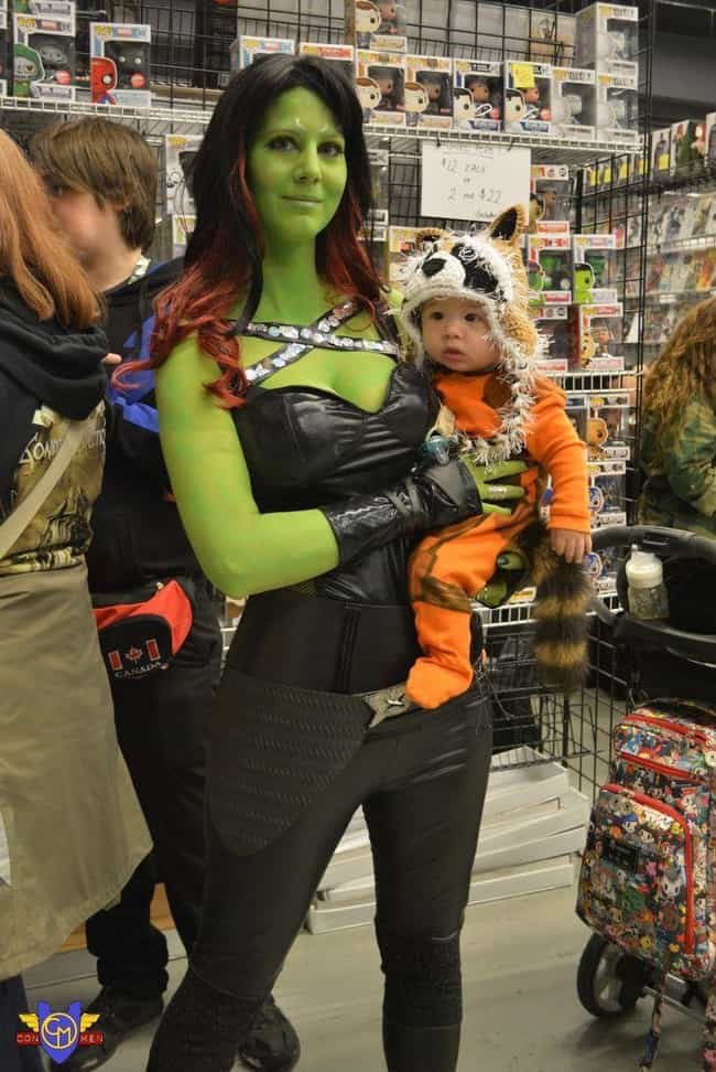 Mama's Lil Rocket is listed (or ranked) 8 on the list Awesome Parent/Kid Costumes for Nerdy Moms and Dads Everywhere