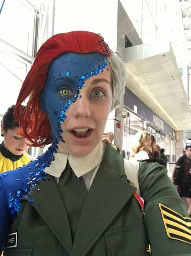 Mystique Transformation is listed (or ranked) 1 on the list 30 Awesome Examples of Cosplay with a Twist