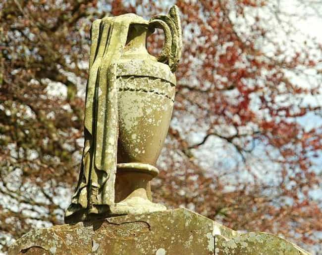 An Urn with Crepe Is a Symbol ... is listed (or ranked) 2 on the list Strange Cemetery Symbolism: What Does It All Mean?