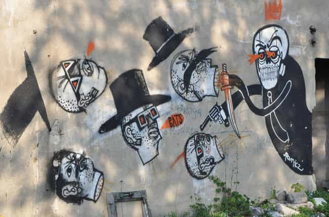 Banksy Is A Big Group Of... is listed (or ranked) 2 on the list Who Is Banksy? These 8 Intriguing Theories Might Point To His Identity