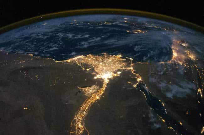 Nighttime Over the Nile ... is listed (or ranked) 1 on the list The Best Pictures from the ISS