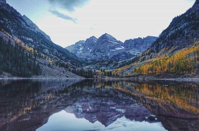 Colorado's Maroon Bells Tr... is listed (or ranked) 10 on the list The Most Treacherous Hikes in the United States