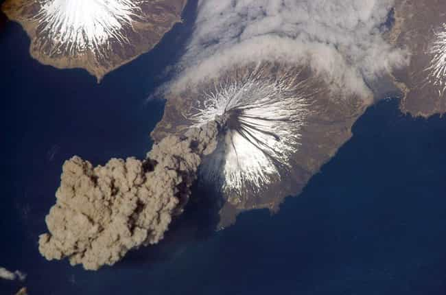 Cleveland Volcano Erupti... is listed (or ranked) 3 on the list The Best Pictures from the ISS