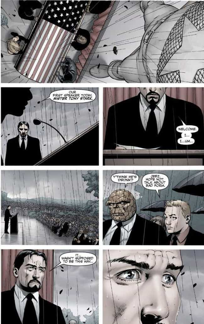 The End Of Captain Ameri... is listed (or ranked) 4 on the list The Most Emotional Moments In Marvel Comics History