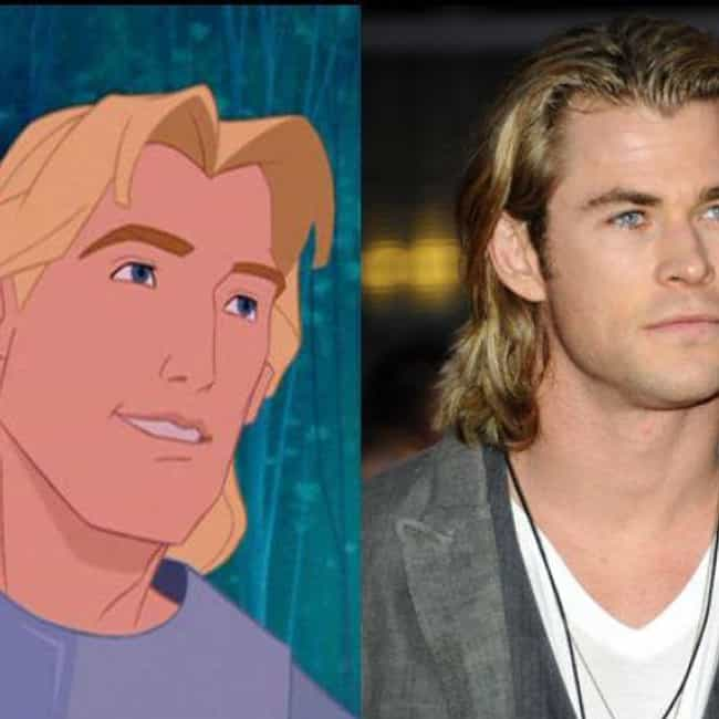 John Smith and Chris Hemsworth is listed (or ranked) 3 on the list 23 Celebrities and Their Cartoon Doppelgangers