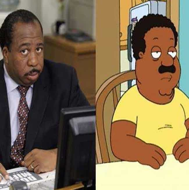 Leslie David Baker and Clevela... is listed (or ranked) 2 on the list 23 Celebrities and Their Cartoon Doppelgangers