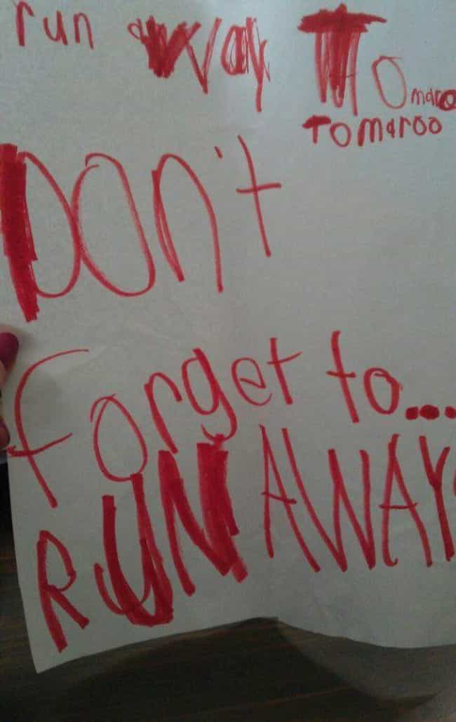 18 Ridiculously Cute 'Running Away From Home' Notes Written By Kids