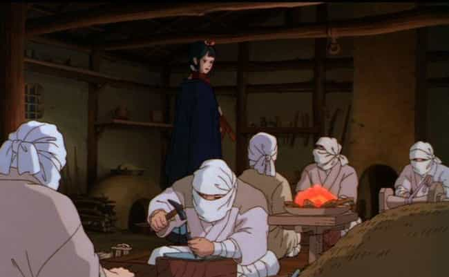 Leprosy in Princess Mononoke is listed (or ranked) 4 on the list 7 Disturbing Studio Ghibli Fan Theories About Your Favorite Anime Films