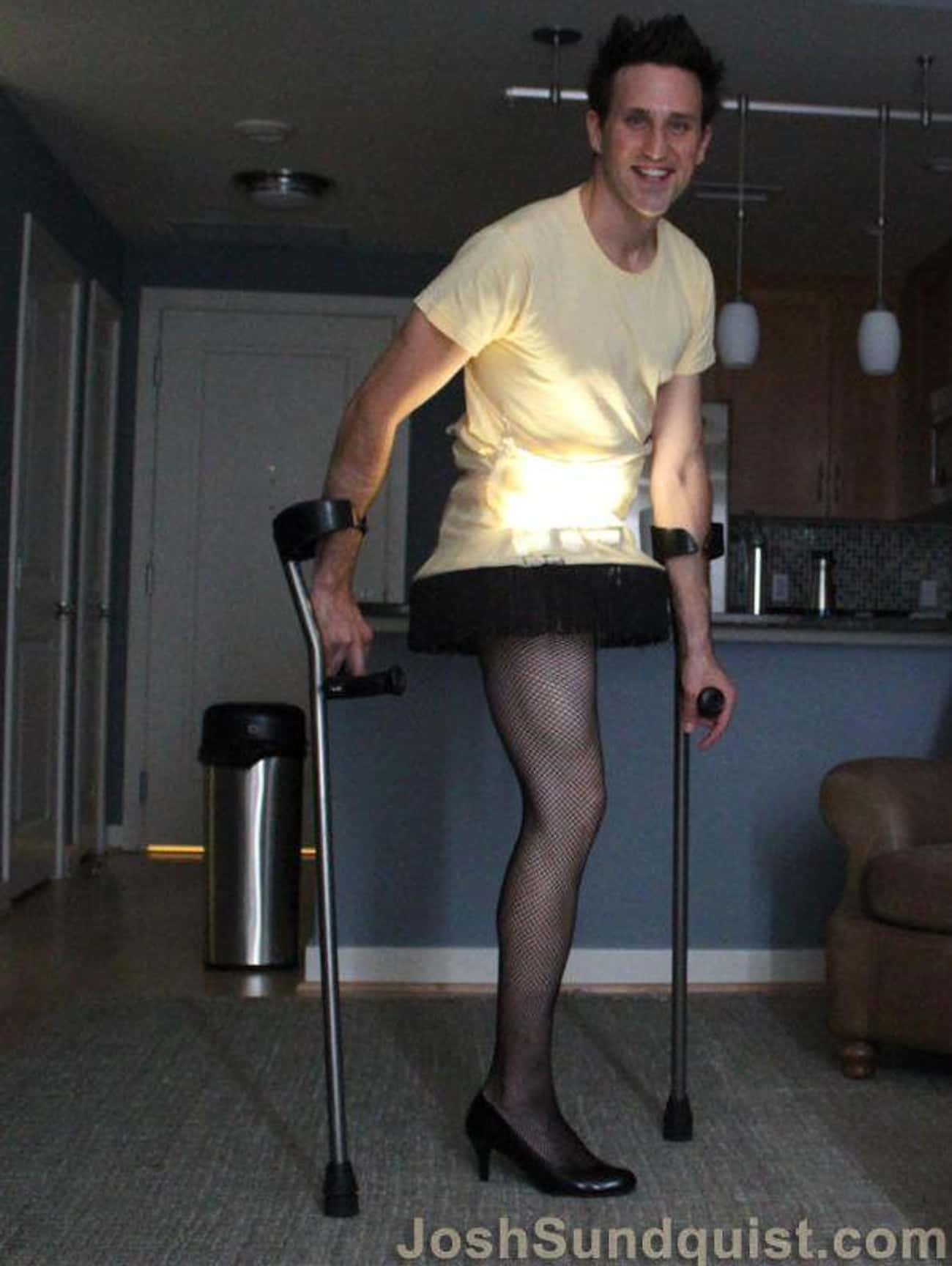 Sticking Your Leg Out Like The is listed (or ranked) 3 on the list These Amputees Are Turning Their Disability Into Clever And Creative Halloween Costumes