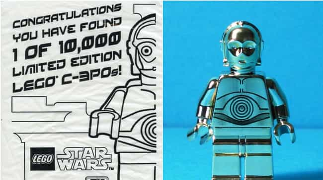 Gold Chrome Plated C-3PO is listed (or ranked) 2 on the list Rare, Weird, Or Super-Expensive Lego Sets You'll Probably Never Play With