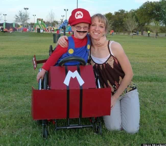 It's Ah-Me, Mario! is listed (or ranked) 2 on the list These Amputees Are Turning Their Disability Into Clever And Creative Halloween Costumes