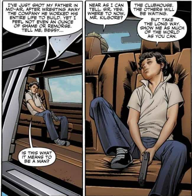 Kade Kilgore, the 12 Year Old ... is listed (or ranked) 2 on the list 12 Horrifying Kids in Marvel Comics Who Killed People in Ultra Violent Ways