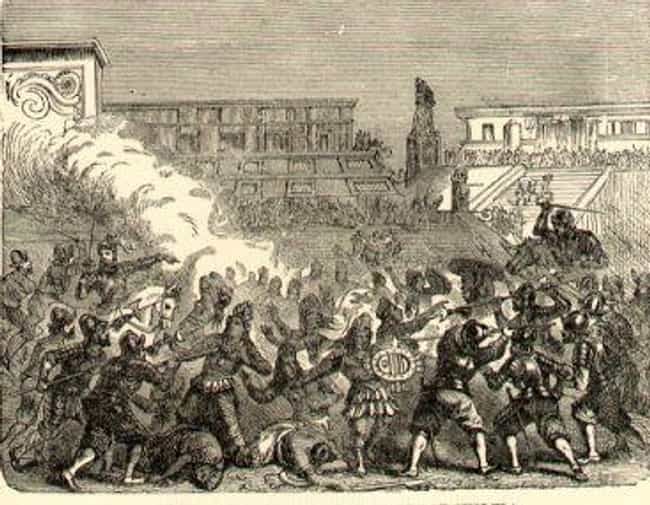 They Gathered Aztec Nobles in ... is listed (or ranked) 2 on the list 15 Brutal Ways Conquistadors Killed Native People