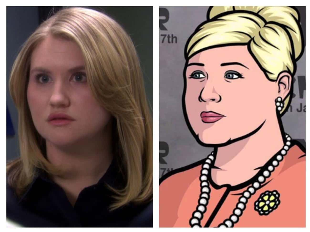 Jillian Bell and Pam Poovey is listed (or ranked) 1 on the list 23 People Who Look Exactly Like Archer Characters