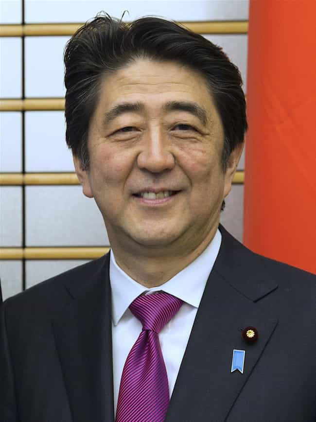 """Prime Minister Shinzo Abe and ... is listed (or ranked) 1 on the list 10 Alarming Facts About the """"Cult"""" That Wants to Run Japan"""