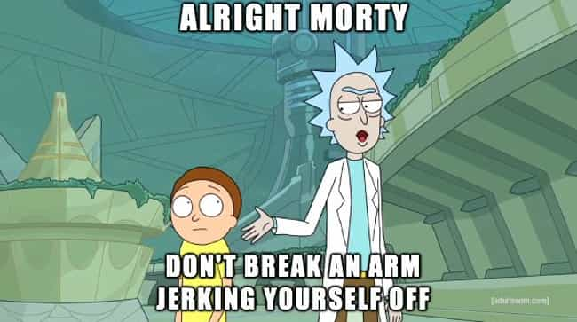 Armed and Dangerous is listed (or ranked) 2 on the list 20 Downright Dirty Lines from Rick & Morty