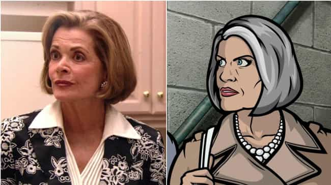 Jessica Walter And Malory Arch... is listed (or ranked) 1 on the list 20 Voice Actors Who Look Exactly Like Their Characters