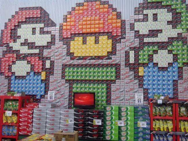 This Amazing Mario Broth... is listed (or ranked) 2 on the list These Supermarkets Are Not Messing Around When It Comes to Their Displays