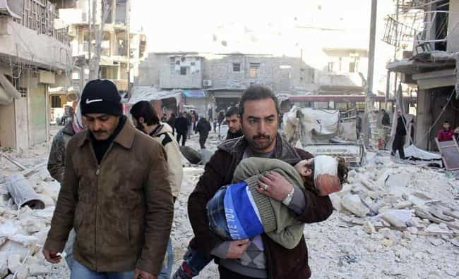 The Syrian Civil War is listed (or ranked) 1 on the list 10 Brutal Revolutions, Rebellions, and Uprisings of the 21st Century
